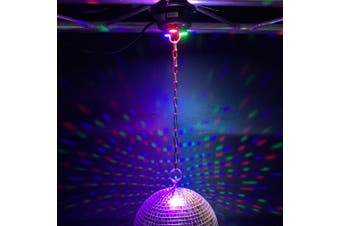 CR Lite Mirror Ball Motor With Red Green Blue 1W LED Light Capacity 3.5kg
