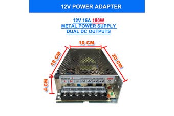 240V AC to DC 12V 10A 120W Switch Power Supply Driver,Power Transformer for CCTV camera/ Security System/ LED Strip Light/Radio/Computer Project
