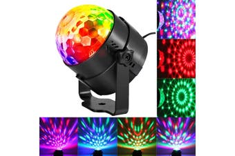 Sound Activated Party Lights Disco Ball Party Decorations 3W RGB LED Light Show Music Activated DJ Light