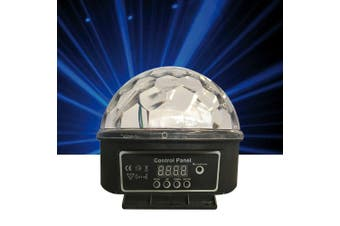 CR Lite 18W 6 High Power LED Red Green Blue White Yellow Pink Disco DJ Party Star Ball Auto Sound With IR Controller
