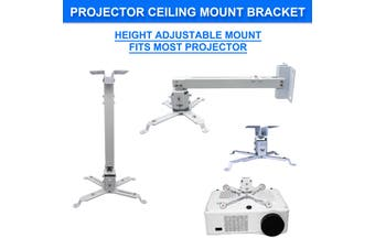 Universal Projector Wall Ceiling Overhead Mount, Adjustable Height Bracket Rack Holder LCD DLP for Epson, Optoma, Benq, ViewSonic Projectors