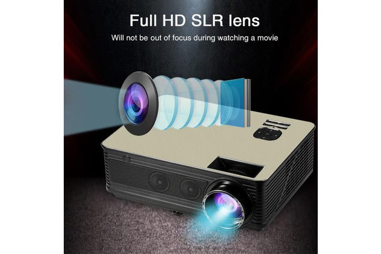 New Native 1080P Full HD SLR Lens LED Projector Media Home Outdoor Cinema HDMI USB 1080P VGA With Speaker