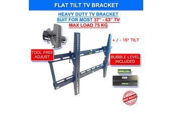 "Slim Tilt Flat TV Wall Mount for 37""-70"" LED LCD Plasma TV Monitor Bracket Max Load Capacity up to 70kg"