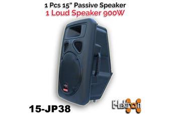 "E-Lektron 900W JP38 DJ Powerful 15 inch 2 Way PA Speaker Box Passive 38CM / 15""woofer"