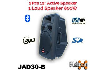 E-Lektron Digital Sound System USB/SD & Bluetooth Active Loud 12 inch 800W Powered Speaker