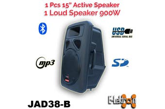 E-Lektron Digital Sound System USB/SD & Bluetooth Active Loud 15 inch 900W Powered Speaker