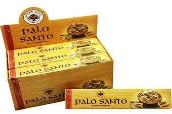 Green Tree Palo Santo INCENSE 12 Packets - 144 Sticks Premium Masala Fragrance