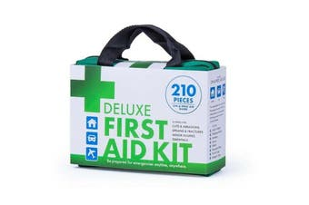 Emergency First Aid Kit Deluxe Travel 210 Pieces Medical Workplace Family Safety