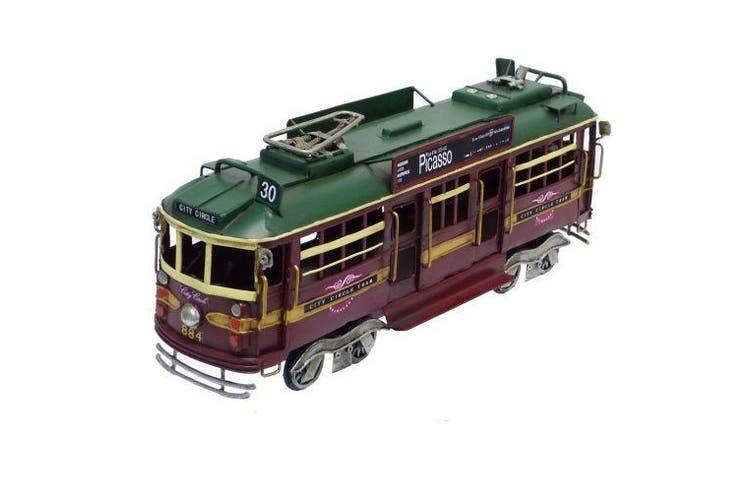 Melbourne City Circle Tram Replica Train Model Metal Handmade Rail Tin 34cm