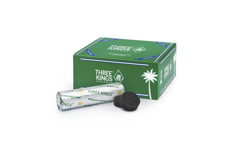 Three Kings Premium Coconut Charcoal Hookah Shisha Coal Incense quick light 10 Rolls/100 pcs