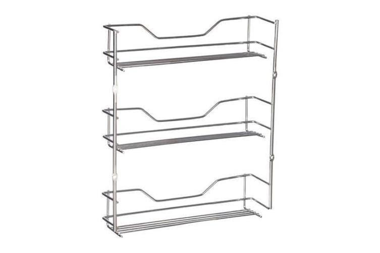 3 Tier Wall Spice Rack Spices Kitchen Pantry Jar Organiser Shelves Storage
