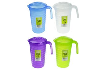 4 pcs Plastic Water Jug Set with Lid 2L BPA FREE