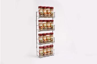 4 Tier Chrome Spice Rack Holder 16 Bottles Suit Masterfood Spice Bottles