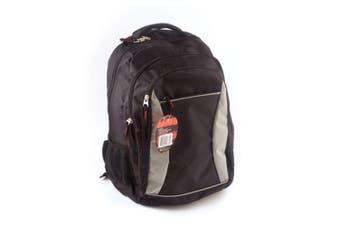 Waterproof Backpack School Laptop Travel Shoulder Bag Black/Grey
