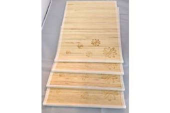 Set of 4 Bamboo Kitchen Placemats Place Mat Dinner Table Decor Party