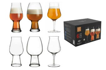 Luigi Bormioli Birrateque Mixed Set Craft Beer Wheat IPA Tester Glass Drink 6 pc