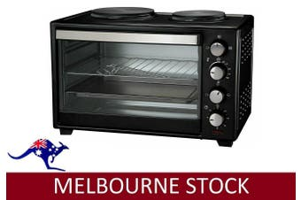 Bench Table Top Oven 30L Twin Hot Plate PORTABLE COOKTOP Electric