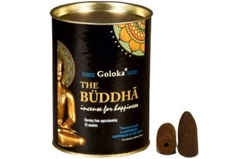 Goloka The Buddha 24 Backflow Incense Cones Meditation Happiness Fragrance