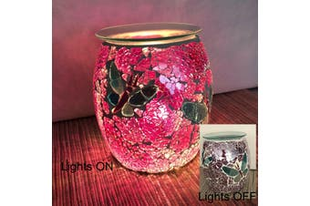 Butterfly Glass Mosaic Electric Oil Burner Essential Oils Therapy Aromatherapy
