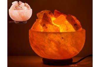 Himalayan Crystal Salt Lamp Firebowl Fire Bowl Natural Crystal Chunk Rock 4-5kg
