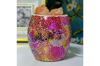 Rainbow Chip HIMALAYAN CRYSTAL SALT LAMP Natural Crystal Rock 1.5KG