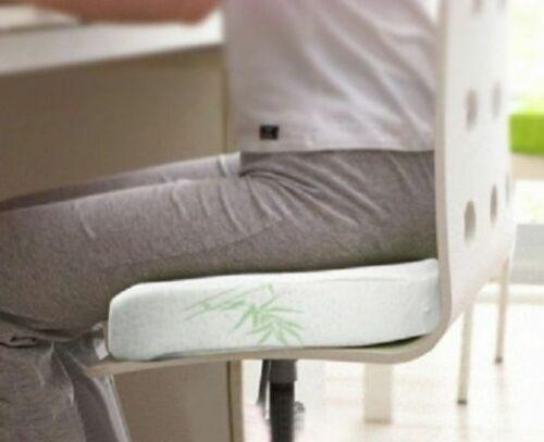 Bamboo Memory Foam Cushion Fleece Cover Office Chair Seat Car Stress Relief Matt Blatt