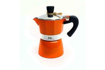 Coffee Culture Italian Stove Top Coffee Espresso Maker Percolator 1 cup Orange