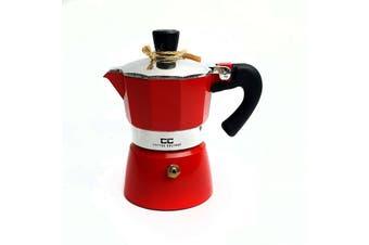 Coffee Culture Italian Stove Top Coffee Espresso Maker Percolator 1 cup Red
