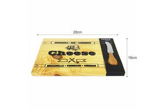 2pc Cheese Board and Knife Set Cheese Cutting/Serving Personalized Wood Board