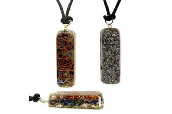 Orgone Healing Pendant Adjustable Cord Sodalite Necklace EMF Protection