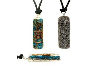 Orgone Chakra Healing Pendant Adjustable Cord Turquoise Necklace EMF Protection
