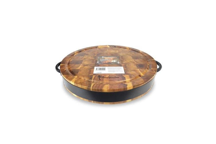 Round Acacia Chopping Cutting Board Wood Serving Tray