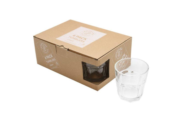 6pcs 250ml Coffee Cafe Caffe Latte Glasses Cup
