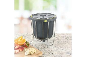 Silicone Compost Bucket Counter Top Kitchen Scraps Garbage Insert 3.8L
