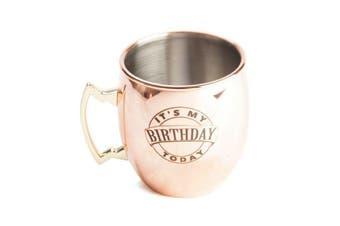 Its My Birthday Moscow Mule Copper Mug Metallic Mug Drink Coffee Tea Handle