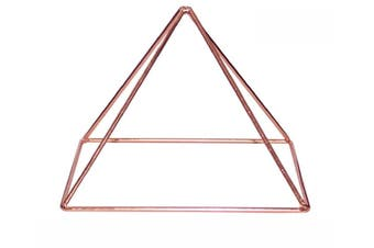 Copper Energizer Pyramid Energy Healing Meditation Crystal Spiritual Tool 15cm