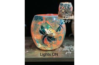 Dragonfly Glass Mosaic Vase Bowl HIMALAYAN CRYSTAL SALT LAMP Natural Rock