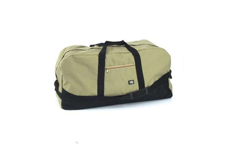 Duffle Bag Duffel Gym Black Beige Large Mens Travel 70x32x27cm