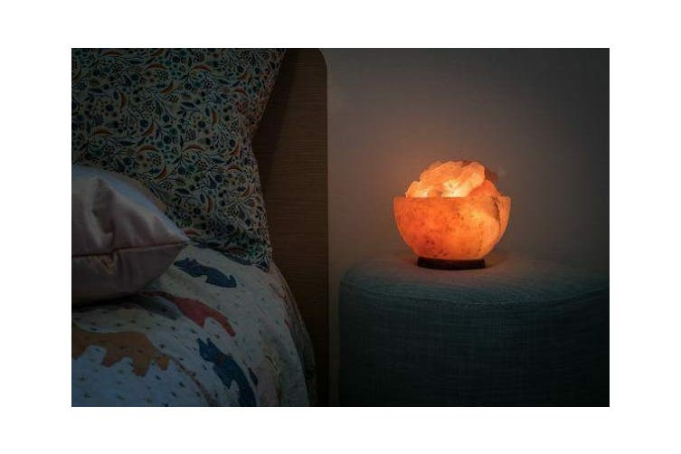 Firebowl Fire Bowl Lamp w/ Himalayan Salt Chunks Rocks