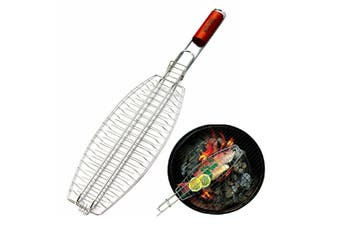 Fish Grill Basket Rack Top Grade BBQ Barbecue Grilling Camping Fish Food Holder