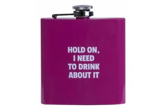Hip Flask Alcohol Travel Bottle Portable Drinkware Stainless Steel Colours Fun - Pink
