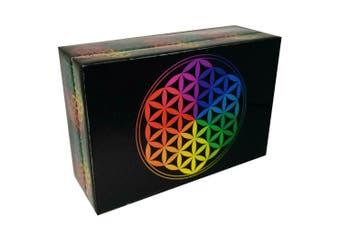 Flower of Life 7 Chakra Meditation Wooden BOX Esential Oil Jewellery Box 10x15cm