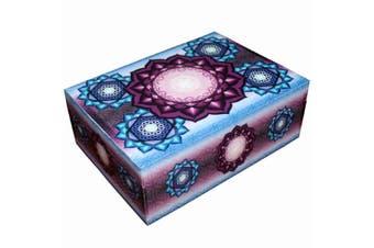 Flower of Life Lotus Meditation Wooden BOX Printed Jewellery Crystal Box 12x17cm