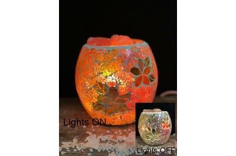 Frangipani Glass Mosaic Vase Bowl HIMALAYAN CRYSTAL SALT LAMP Natural Rock
