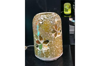 Frangipani Glass Mosaic Electric Essential Oil Diffuser Therapy Aromatherapy