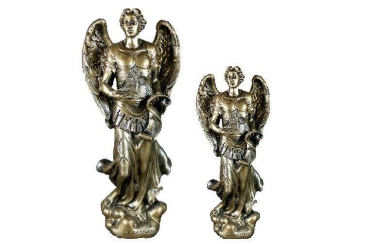 Archangel Gabriel Statue Angel Figurine Strength Protection Communication Tin - Gabriel 20cm