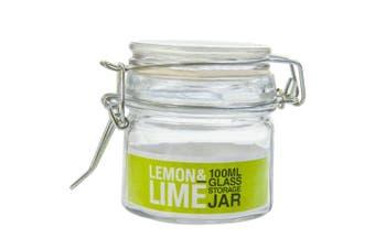 16x Spice Mini Glass Jar Clip Lid Bottle Jam Storage Jars 100ml