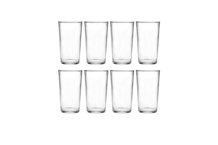 Wiltshire Salute Long Glass Set of 8 Clear Tumbler Water Glasses Drink 320ml