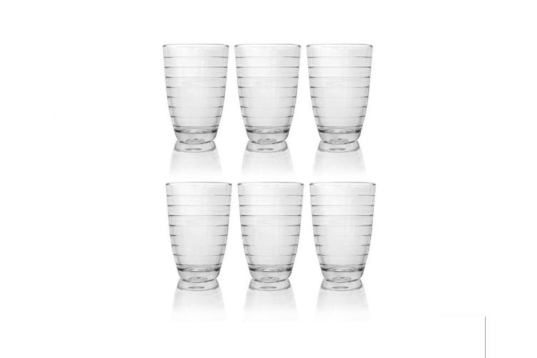 6x Glass Tumbler Water Drinking Glasses Drink Water Tumblers Mug Hot Cold Set