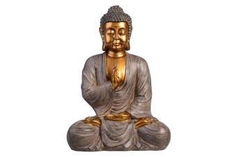 Golden THAI BUDDHA Sitting Ornament Figure Statue Sculpture MEDITATING Figurine